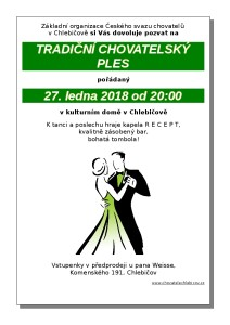 Pozvánka na chovatelský ples 2018