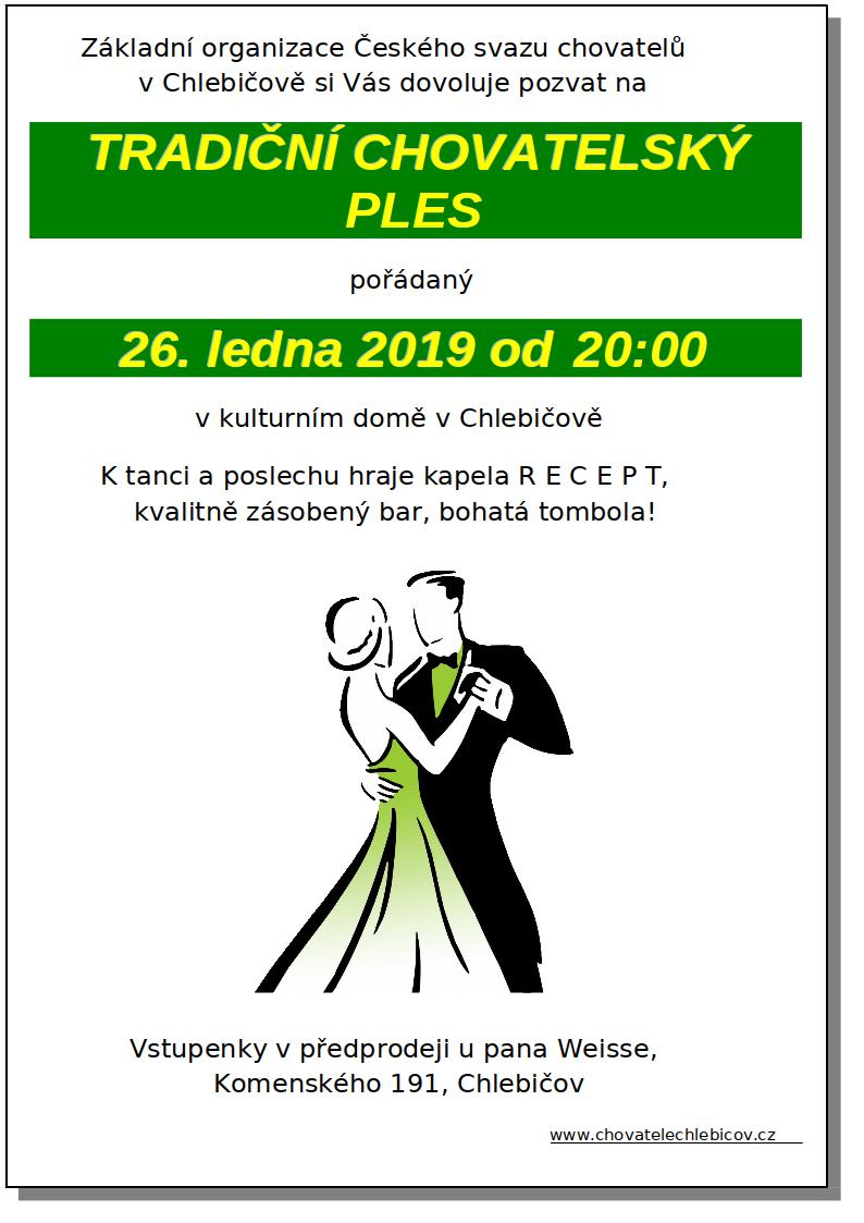 Pozvánka na chovatelský ples 2019
