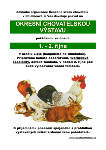 Pozvánka na okresní výstavu Chlebičov 2016